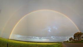 Rainbow. A rainbow showed up in the sky after a thunderstorm Royalty Free Stock Images