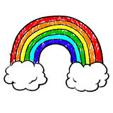 Rainbow sketch. Doodle style rainbow sketch in  format Royalty Free Stock Photo