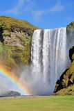 Rainbow at Skogafoss Iceland. Royalty Free Stock Image
