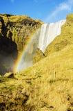 Rainbow at Skogafoss waterfall Iceland Stock Photography