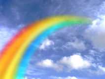 Rainbow in the sky. A beautiful rainbow in the sky stock image