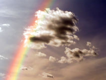 Rainbow on sky Stock Photos