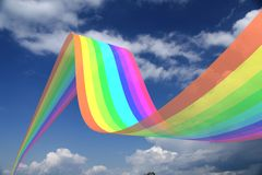 Rainbow in the sky!. Rainbow over the Sky, clouds royalty free illustration