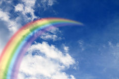 Rainbow in the sky stock images