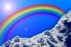 Rainbow and sky Royalty Free Stock Photos