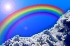 Rainbow and sky Royalty Free Stock Photos