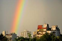 Rainbow sky Stock Image