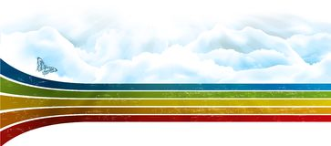 Rainbow sky Royalty Free Stock Photos