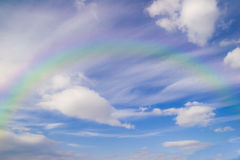 Rainbow & sky Royalty Free Stock Photo