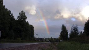 Rainbow in the sky stock video footage