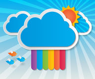 Rainbow sky background Royalty Free Stock Photo