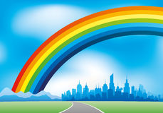 Rainbow in the sky. Stock Images