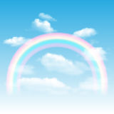 Rainbow, sky and clouds Royalty Free Stock Image