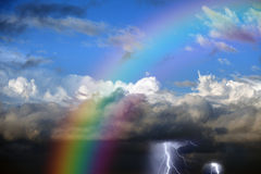 Rainbow in sky Royalty Free Stock Photos