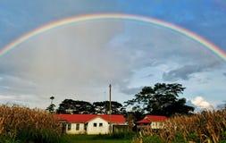 Rainbow, Sky, Field, Cloud royalty free stock photo