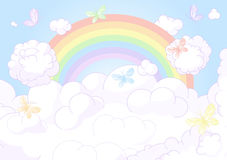 Rainbow sky Royalty Free Stock Image