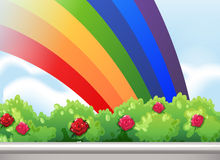 A rainbow in the sky Stock Images