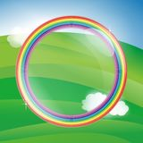Rainbow lens sky illustration Royalty Free Stock Images