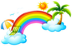 A rainbow in the sky Royalty Free Stock Photo