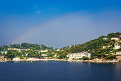 Rainbow in the sky in Nice, France Stock Photography