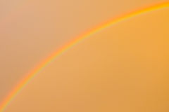 Rainbow and sky orange Stock Photos