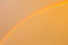 Rainbow and sky orange Stock Photos