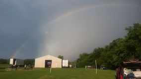 Rainbow. Sky outdoors country camping stock images