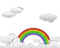 Rainbow in sky, Paper art Royalty Free Stock Photo