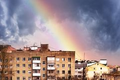 Rainbow in the sky Royalty Free Stock Images