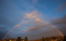 Rainbow in sky Stock Photography