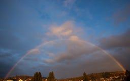 Rainbow in sky Stock Photography