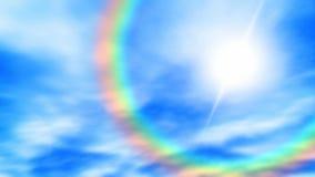 Rainbow in the sky seamless loop