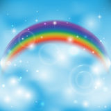 Rainbow on sky Stock Image