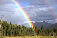 Rainbow, Sky, Wilderness, Meteorological Phenomenon royalty free stock photography