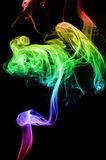 Rainbow Smoke Stock Photo