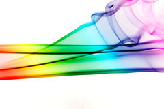 Rainbow smoke. Smoke pattern colored in rainbow colors Royalty Free Stock Photo