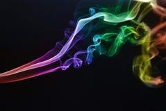 Rainbow smoke Stock Photo