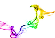 Rainbow smoke Stock Image