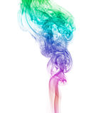 Rainbow smoke abstract. Abstract smoke on white background royalty free stock photography