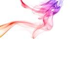 Rainbow smoke isolated Stock Photo