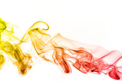 Rainbow smoke isolated Stock Photos