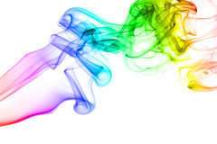 Rainbow smoke isolated on white background Royalty Free Stock Photography