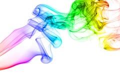 Rainbow smoke isolated on white background Royalty Free Stock Photography