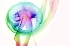 Rainbow Smoke Ring. Rainbow colored smoke ring from burning incesne Royalty Free Stock Photo