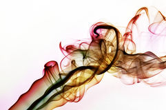 Rainbow smoke wiith brown Stock Images