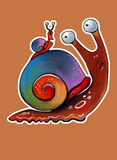 Rainbow snail Stock Images