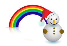 Rainbow snowman illustration design Royalty Free Stock Image