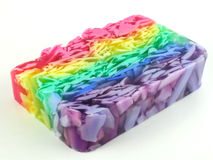 Rainbow soap Stock Photography