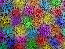 Rainbow soap bubbles Stock Images