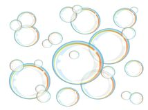 Rainbow soap bubbles Royalty Free Stock Photos